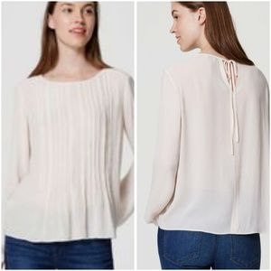 So Pretty Loft Pintucked Blouse